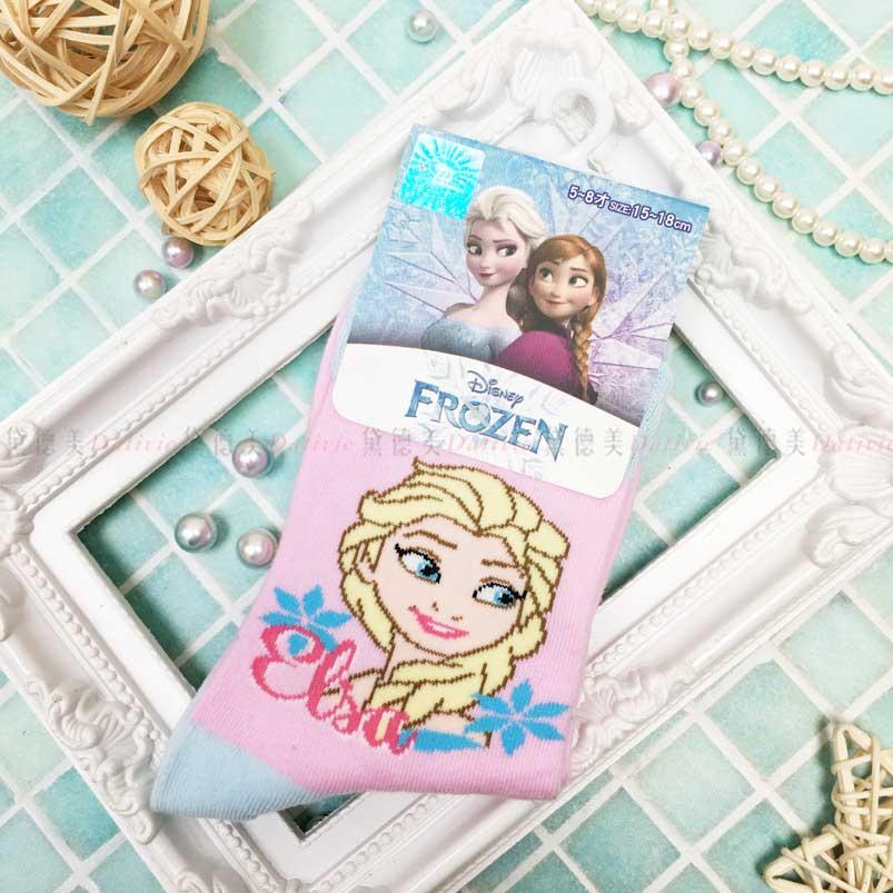 2分之1童襪 迪士尼 冰雪奇緣 艾莎 Elsa 童襪 正版授權