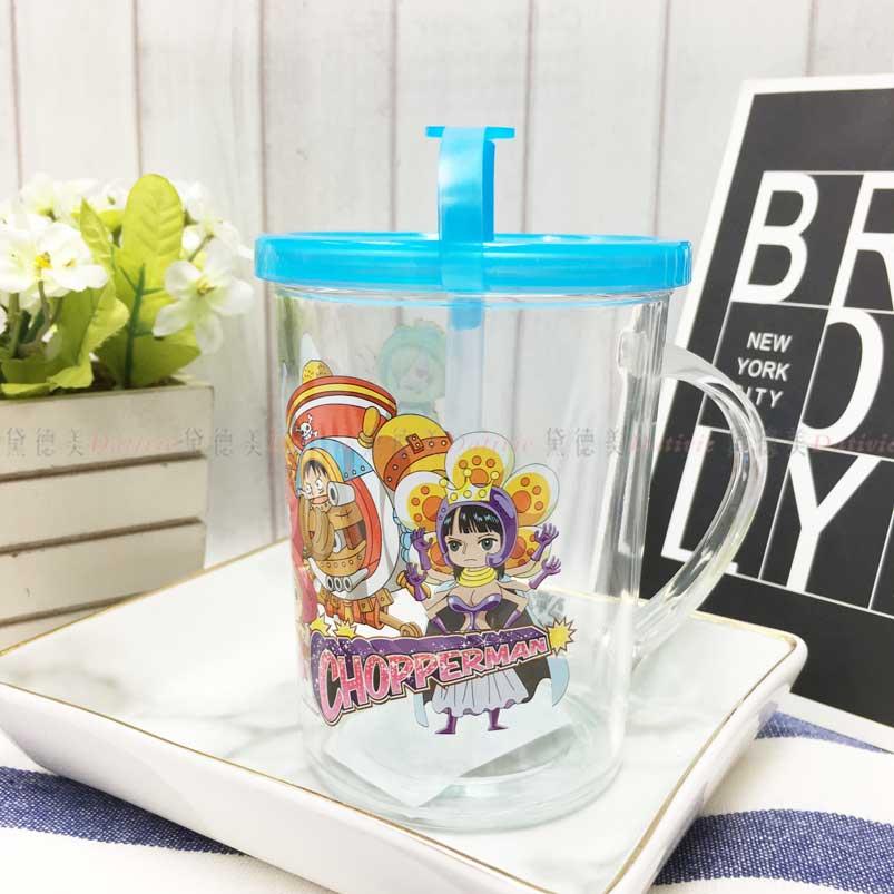吸管水杯 航海王 喬巴 250ml 透明 造型水杯 正版授權