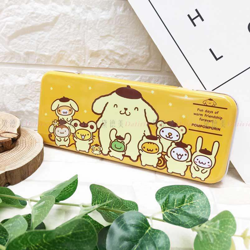 雙層鐵筆盒 三麗鷗 布丁狗 POMPOMPURIN 鉛筆盒 正版授權