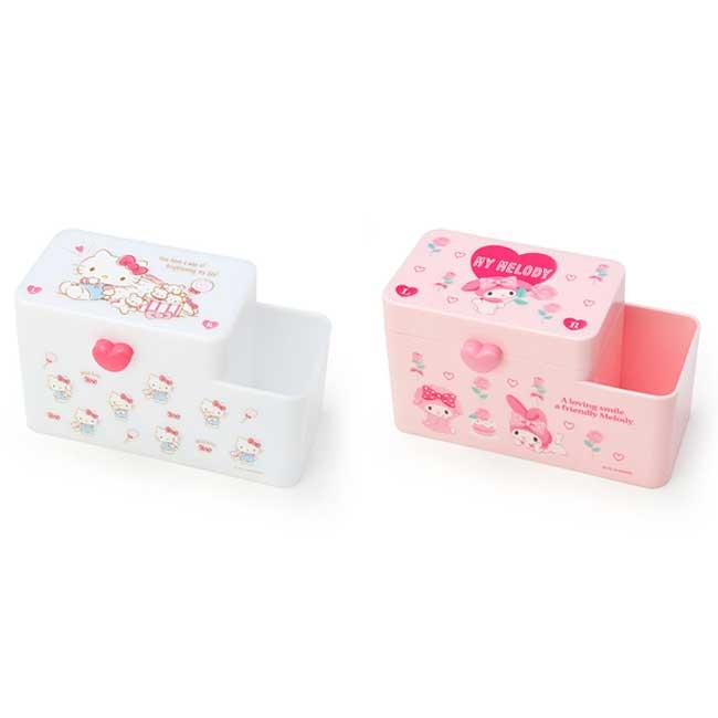 多功能置物盒 三麗鷗 Hello Kitty 凱蒂貓 美樂蒂 2款 置物筒 日本進口正版授權