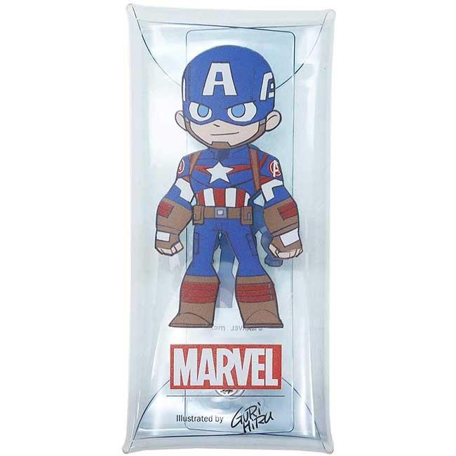 透明筆袋 漫威 MARVEL 美國隊長 英雄 造型筆袋 日本進口正版授權