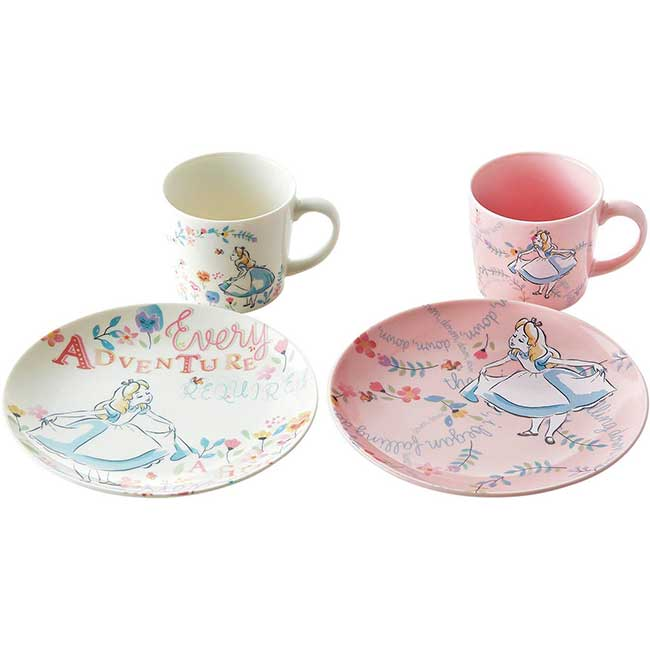 咖啡杯盤兩對組 迪士尼 愛麗絲 ALICE 餐具組 日本進口正版授權