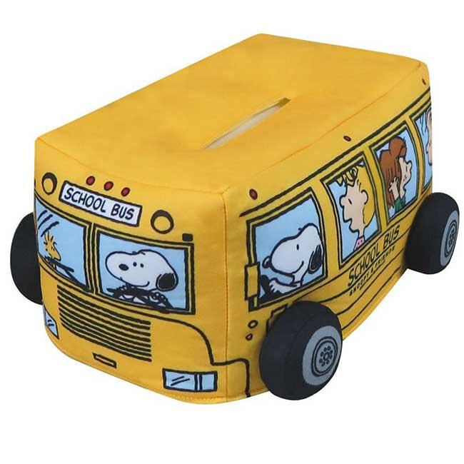 面紙套 SNOOPY 史努比 school bus 黃色 造型面紙套 日本進口正版授權