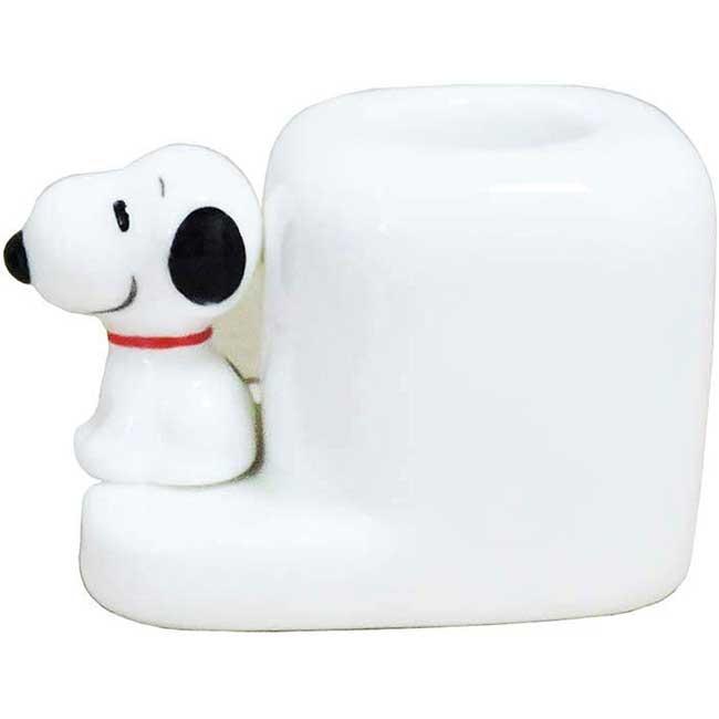 單孔牙刷架 史努比 SNOOPY 陶瓷 造型牙刷架 日本進口正版授權