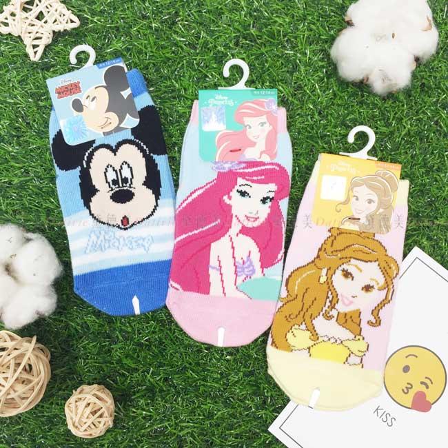 兒童止滑襪 迪士尼 Disney 米奇 公主系列 3款 幼童直版襪 正版授權