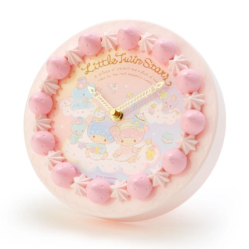 草莓蛋糕造型時鐘 三麗鷗 雙子星 kikilala 粉色 圓形時鐘 日本進口正版授權