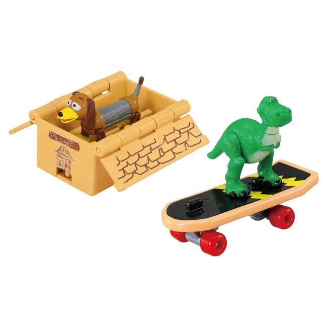 TOMICA玩具車 迪士尼 皮克斯 玩具總動員 抱抱龍 彈簧狗 2款 幼童玩具車 日本進口正版授權