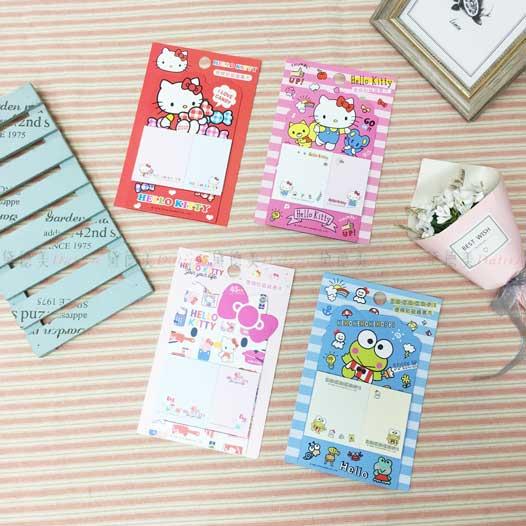 凱蒂貓便條貼磁鐵書夾 三麗鷗 HELLO KITTY 大眼蛙 四款 正版授權