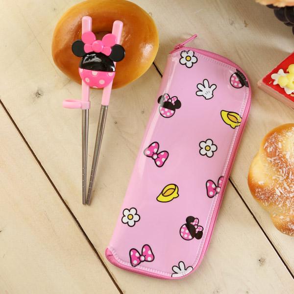 米尼 迪士尼 餐具 輔助學習筷 附收納袋 韓國製