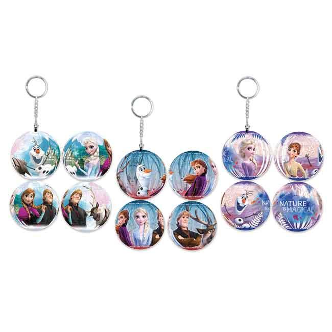 迪士尼 冰雪奇緣 球型拼圖鑰匙圈 三款 正版授權