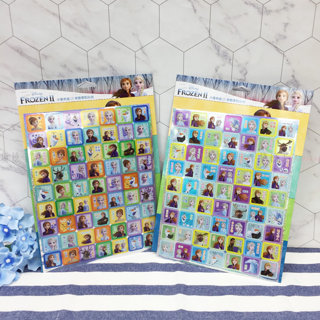 迪士尼 冰雪奇緣 獎勵貼紙 兩款 正版授權