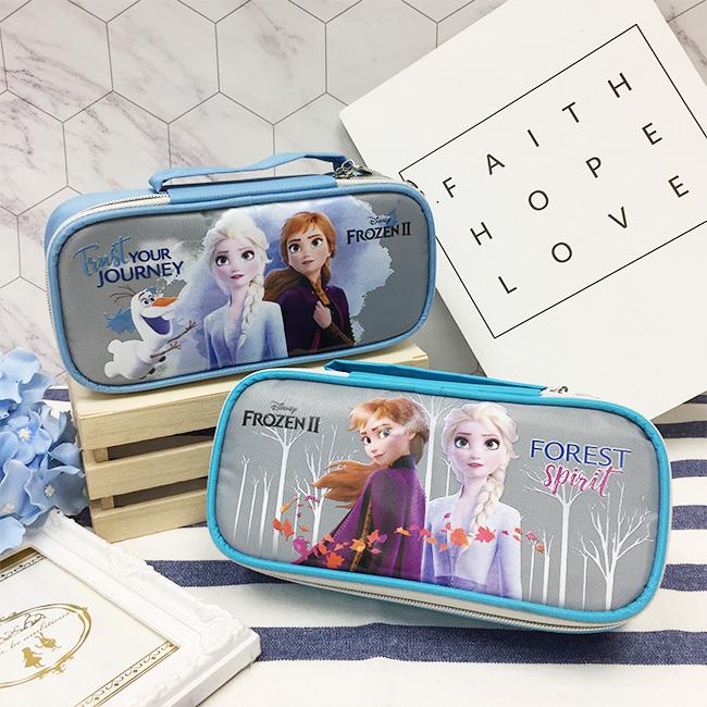 迪士尼 冰雪奇緣 附鏡掀蓋筆袋 收納 兩款 正版授權