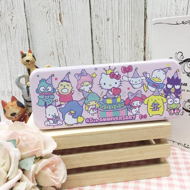 三麗鷗 家族 雙層鐵筆盒  收納盒  正版授權