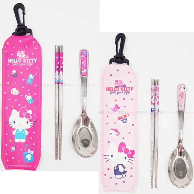 Hello Kitty 掛勾式餐具組 兩款 正版授權