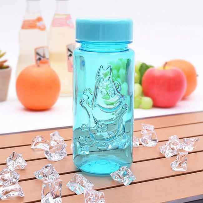 嚕嚕米 350ml 透明浮雕水杯 韓國製