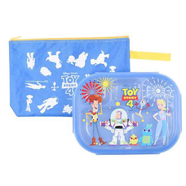 迪士尼 玩具總動員4 不鏽鋼餐盤附袋 韓國製