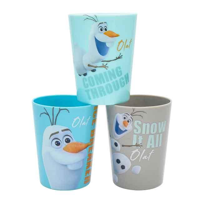 迪士尼 冰雪奇緣 雪寶180ml水杯3入組 韓國製