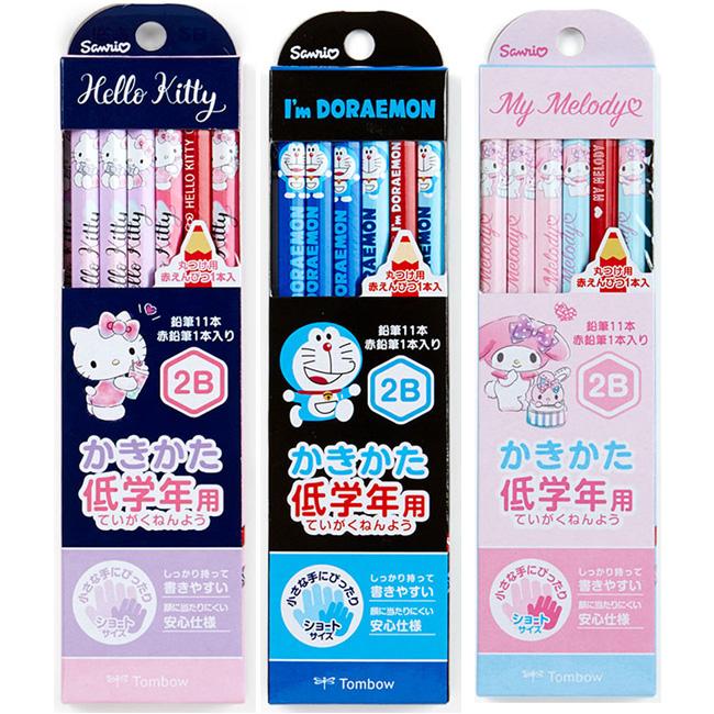 12入2B鉛筆 三麗鷗 Hello Kitty 凱蒂貓 哆啦A夢 文具 鉛筆組 日本進口正版授權