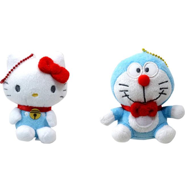 聯名娃娃吊飾 三麗鷗 KT貓 凱蒂貓 Hello Kitty 哆啦A夢 造型吊飾 日本進口正版授權