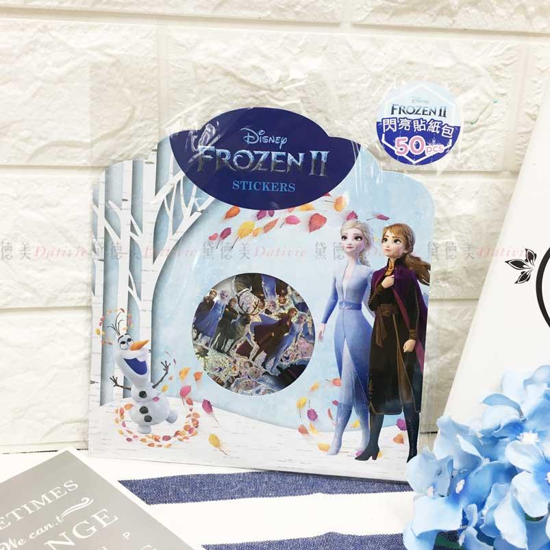 閃亮貼紙包 迪士尼 冰雪奇緣2 Elsa 雪寶 Anna 造型貼紙 正版授權