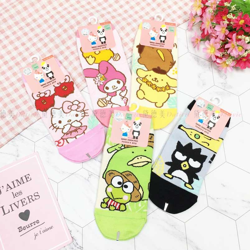 短襪 三麗鷗 Hello Kitty 凱蒂貓 KT貓 布丁狗 美樂蒂 酷企鵝 22~26cm 直版襪 正版授權