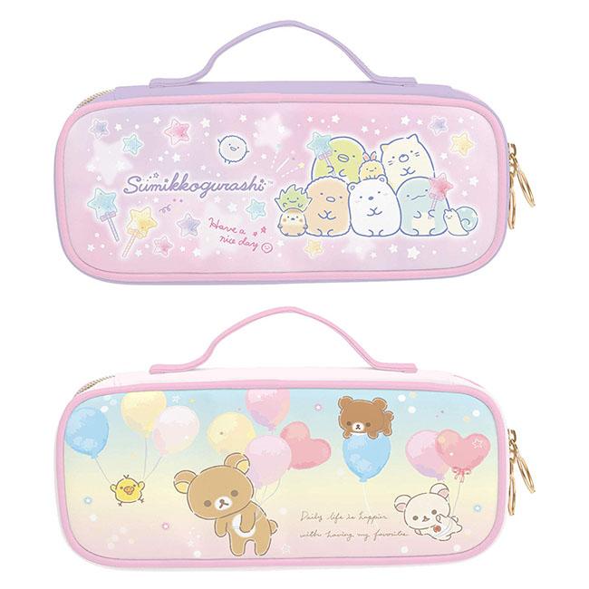 掀蓋式筆袋 SAN-X 角落生物 角落小夥伴 懶懶熊 拉拉熊 拉鍊筆袋 日本進口正版授權