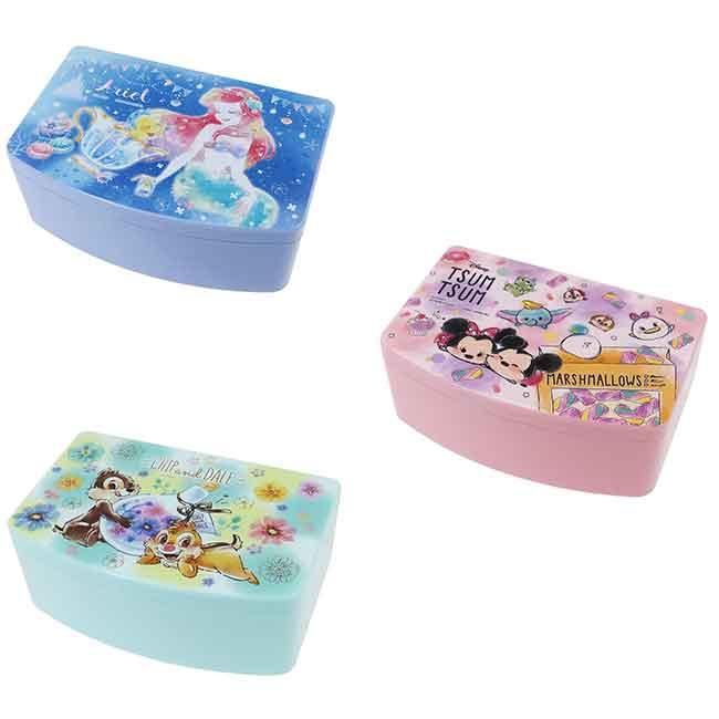 迪士尼 雙層小物收納盒附鏡 生活小物 日本進口