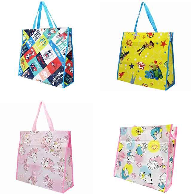 迪士尼 三麗鷗 提袋 收納袋 大提袋 四款 日本進口