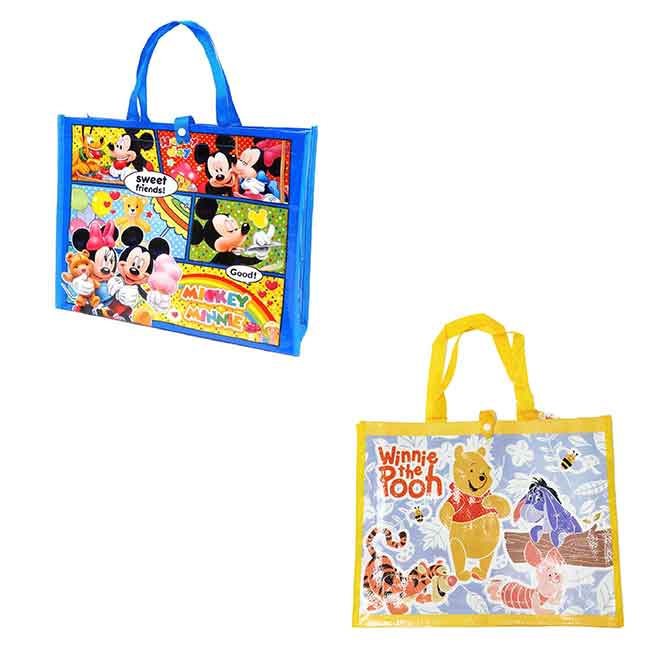 迪士尼 小熊維尼 米奇 提袋 收納 兩款 日本進口