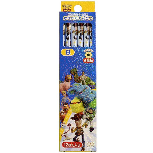 12入B鉛筆 日本 迪士尼皮克斯 玩具總動員4 六角鉛筆 日本進口正版授權
