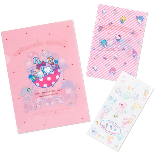 3入文件夾 日本 三麗鷗 Hello Kitty 美樂蒂 kikilala 資料夾 日本進口正版授權