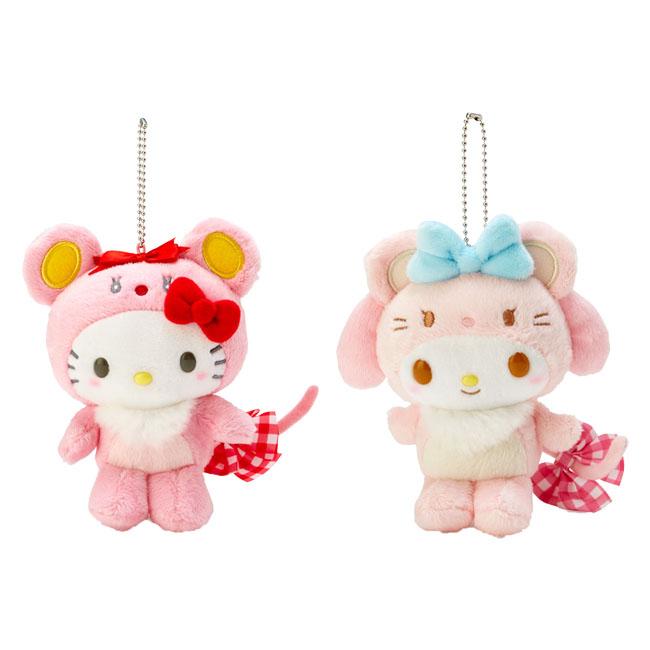 鼠年娃娃吊飾 三麗鷗 Hello Kitty 美樂蒂 造型娃娃 日本進口正版授權