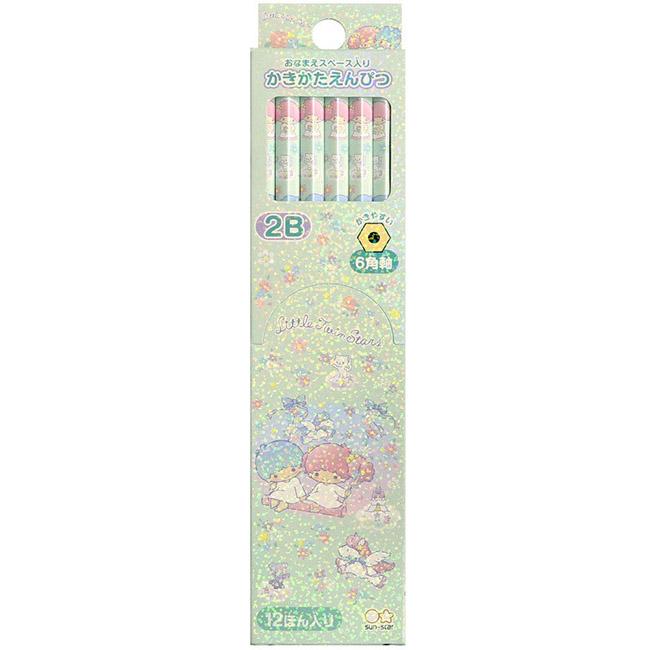 12入2B鉛筆 日本 三麗鷗 kikilala 雙星仙子 六角鉛筆 日本進口正版授權