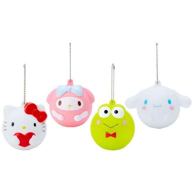 球形叭噗有聲吊飾 三麗鷗 Hello Kitty 美樂蒂 大耳狗喜拿 大眼蛙 造型吊飾 日本進口正版授權