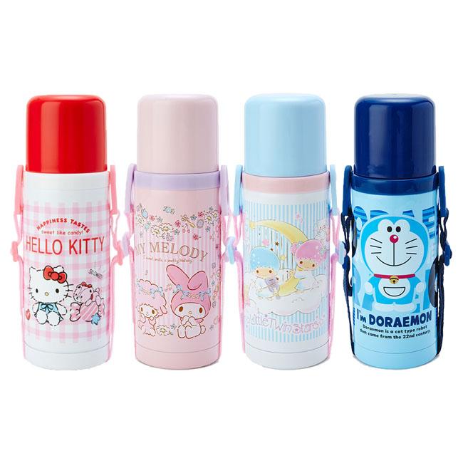 保溫冷水壺 三麗鷗 Kitty 美樂蒂 kikilala 哆啦A夢 380ml 保溫冷水瓶 日本進口正版授權