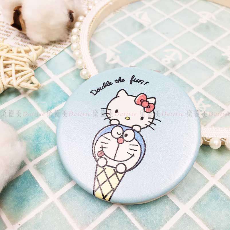 兩用手拿圓鏡 三麗鷗 Hello Kitty 哆啦A夢 隨身鏡 日本進口正版授權