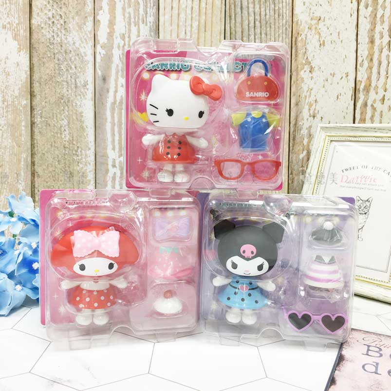 造型變裝公仔 三麗鷗 Hello Kitty 凱蒂貓 美樂蒂 酷洛米 百變公仔 日本進口正版授權