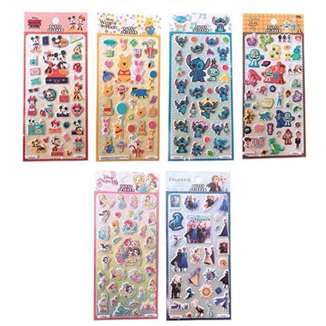 泡棉貼紙 迪士尼 米奇米妮 史迪奇 公主系列 小熊維尼 玩具總動員4 冰雪奇緣 造型貼紙 正版授權