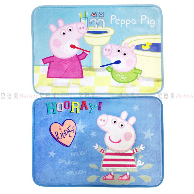 地墊 粉紅豬小妹 佩佩豬 小豬佩奇 喬治 地毯 正版授權