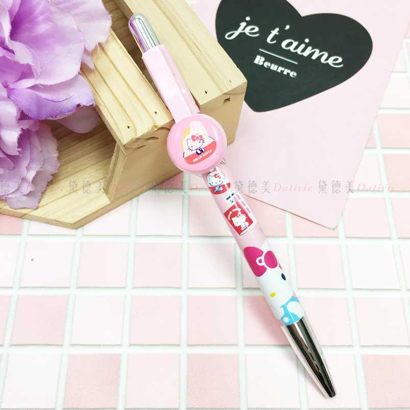 黑色原子筆 三麗鷗 Hello Kitty 凱蒂貓 45th 自動中油筆 正版授權