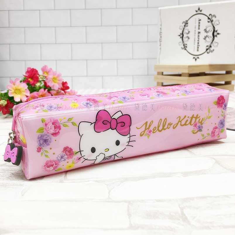 長型筆袋 三麗鷗 Hello Kitty 凱蒂貓 KT貓 拉鍊筆袋 正版授權