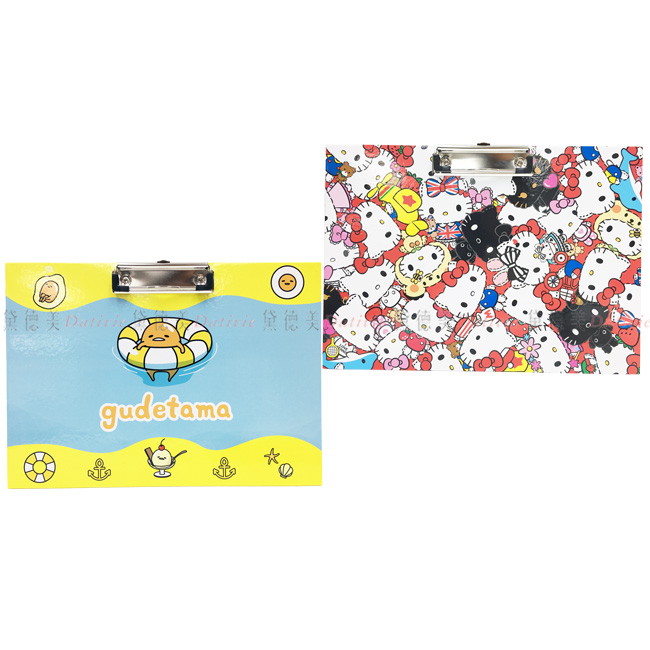 A4橫式版夾 三麗鷗 Hello Kitty KT貓 蛋黃哥 橫式夾板 正版授權