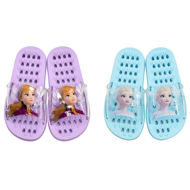 拖鞋 迪士尼 冰雪奇緣2 紫 藍 浴室拖鞋 造型拖鞋 韓國進口正版授權