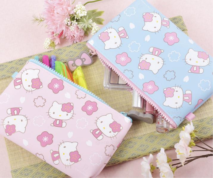 收納包 三麗鷗 Hello Kitty 矽膠 化妝包 筆袋 日本進口