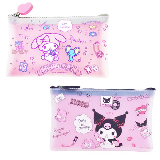 收納包 三麗鷗  美樂蒂 酷洛米 矽膠 化妝包 筆袋 日本進口