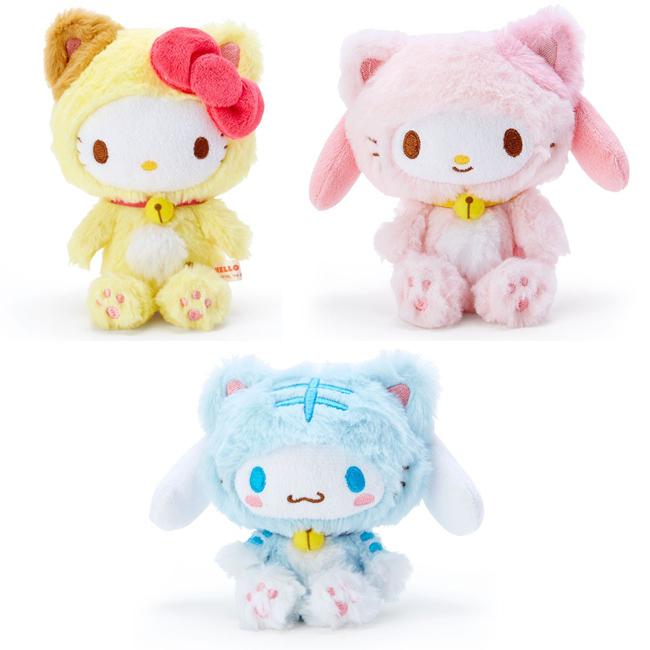 玩偶 三麗鷗 Hello Kitty 美樂蒂 大耳狗 貓造型 絨毛娃娃 日本進口