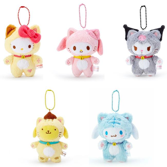 玩偶 三麗鷗 Hello Kitty 美樂蒂 酷洛米 大耳狗 布丁狗 貓造型 絨毛娃娃 吊飾 日本進口