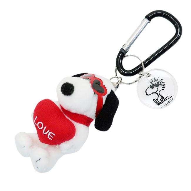 鑰匙圈 SNOOPY 史努比 愛心 吊飾 玩偶 絨毛娃娃 正版授權日本進口