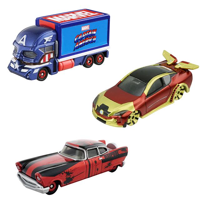 造型玩具車 漫威 美國隊長 鋼鐵人 蜘蛛人 車子 日本進口正版授權