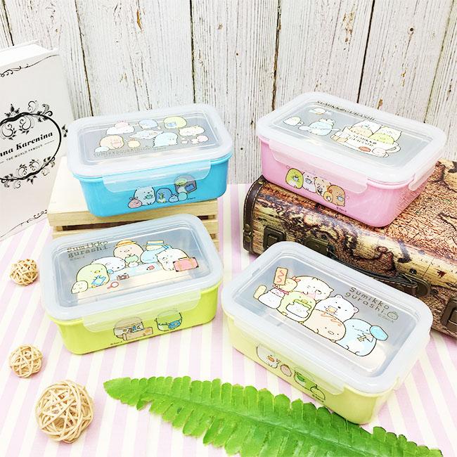 餐盒 SAN-X 角落生物 藍 粉 綠 黃 雙層餐盒  正版授權